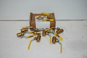 Parker Xv500p 6 Brass Ball Valves 500 Series 600 Wog 3 8fpt Lot Of 10 New