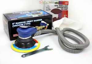 6 Air Random Orbital Palm Sander Vacuum Type W 20pc 80 100 Grit Sanding Disc