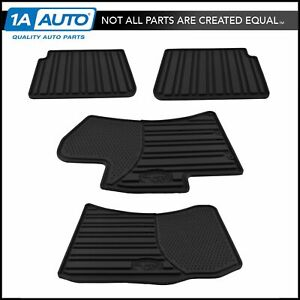 Oem All Weather Molded Black Rubber Floor Mat Kit Set Of 4 For Impreza Wrx Sti