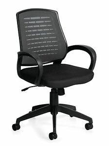 Lot Of 10 Black Otg 10902b mesh Back Managers Chair