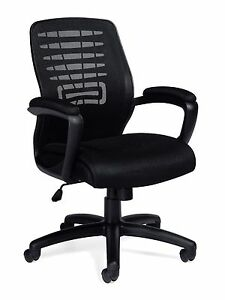Lot Of 6 Black Otg 11750b mesh Back Managers Chair