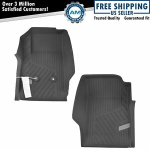 Oem 84370640 Black Rubber Front All Weather Floor Mat Pair Set Of 2 For Pickup