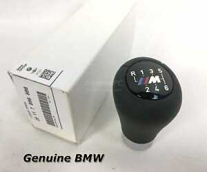 New Bmw Motorsport Weighted 6 Speed M Leather Shifter Knob E46 E60 2003 2006 Oem