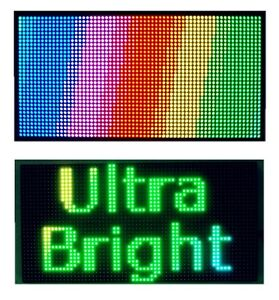 25 x 12 Full Color Semi Outdoor Led Sign Programmable Scrolling Message Board
