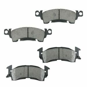 Front Metallic Disc Brake Pad 4 Piece Kit Set For Buick Chevy Gmc Olds Pontiac
