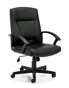 Black Conference Table luxhide Tilter Chair