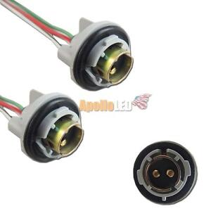 2pcs 1157 2057 2357 Led Bulbs Signal Lights Socket Harness Plugs Adapter