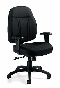 Lot Of 6 Black Otg11651 Tilter Chair With Arms