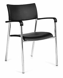 Lot Of 6 Black Otg1220b stack Chairs