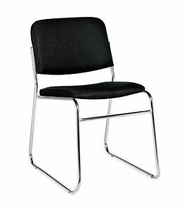 Lot Of 6 Black Otg11697 armless Stack Chairs