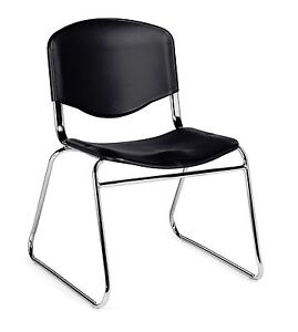 Lot Of 8 Black Otg11700 armless Stack Chairs