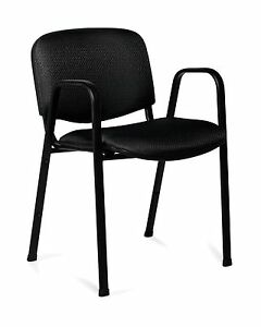Lot Of 8 Black Otg11703 stack Chairs
