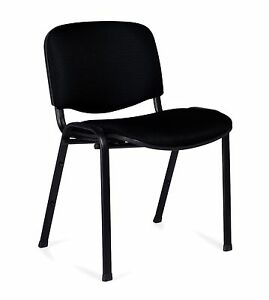 Black Otg11704 armless Stack Chair
