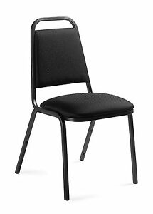 Lot Of 6 Black Otg11934 armless Stack Chairs
