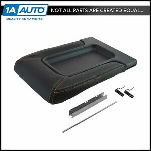 Black With Gold Stitching Console Repair Lid Kit For Chevy Gmc Pickup Truck Suv