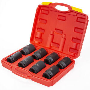 9piece Impact Socket Set Size 26mm To 38mm Mechanic Wrench Tool 3 4 Deep Cr y