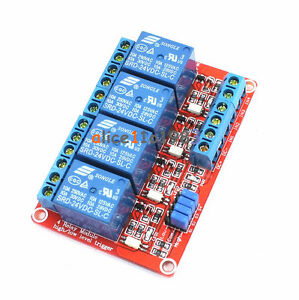 24v 4 Channel Relay Module With Opto isolated High And Low Level Trigger