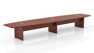 18 Ft Mayline Aberdeen Conference Table Cherry Finished