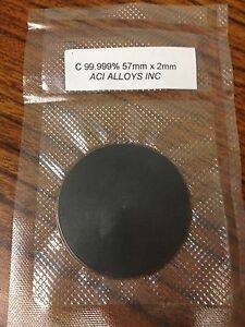 Sputtering Target Carbon 99 999 Pure 57mm Diameter X 2mm Thick