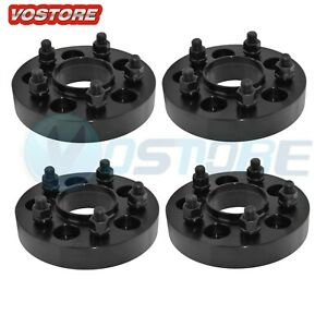 4x 1 25 Black Wheel Spacers 5x5 For Jeep Wrangler Jk Rubicon Hub Centric 5 Lug