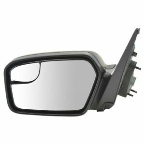 Power Blind Spot Glass Texture Black Mirror Lh Left Driver Side For Fusion Milan