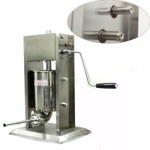 3l 8lb Vertical Sausage Stuffer Stainless Steel Dual Speed Commercial