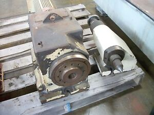 Headstock Tailstock Rotary Table W A2 6 Spindle Nose Turing Spindle Index Or C
