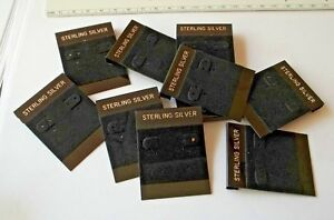 26 Earring 2 x1 5 Black Display Cards 6 Holes Flap For Studs Wires Clip ons