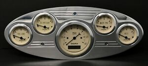 1934 Ford Truck Gauge Cluster White