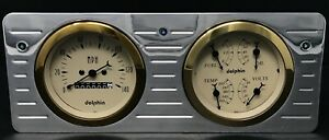 1940 1941 1942 1943 1944 1945 1946 1947 Ford Truck 2 Gauge Dash Panel Insert Gl