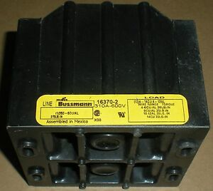 Electrical 16370 2 Cooper Bussmann Power Distribution Block 310a 600v 2 Phase