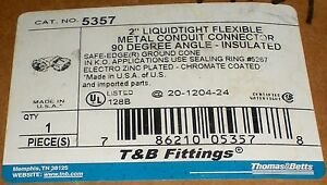 Electrical Conduit 5357 Thomas Betts 2 Flexible Liquid Tight 90 Degree Elbow