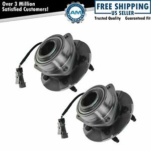 Front Wheel Hub Bearing Assembly New Pair For Equinox Torrent Vue W Abs
