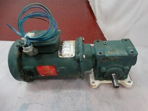 Reliance Electric Motor T56s1000a 1 4hp 1750rpm 90vdc 2 70a W dodge Reducer 60 1