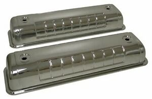 Steel 1955 64 Ford Y Block 272 292 312 Valve Covers Chrome
