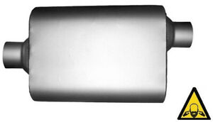 Single Chamber Center Offset 2 25 Universal Muffler