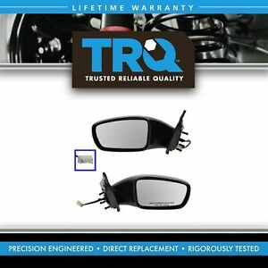 Side View Mirrors Power Smooth Black Left Right Pair Set For 11 13 Sonata