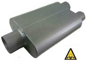 Universal Dual Chamber Muffler 2 5 Inlet 2 25 Dual Outlet