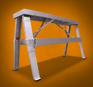 New Mtn 18 30 Aluminum Heavy Duty Drywall Walk up Adjustable Folding Bench