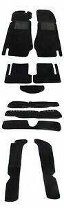 Fiat 124 Spider Black Carpet Set 69 82 New