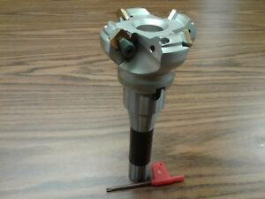 2 1 2 45 Degree Indexable Face Shell Mill R8 Arbor face Milling Cutter new