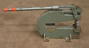 Whitney No 92 10 Ton Bench Mount Punch For Sheetmetal Die Press Roper Stampi