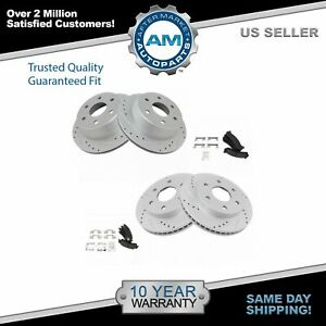 Nakamoto Performance Drilled Slotted Rotor Posi Ceramic Brake Pad Front Rear