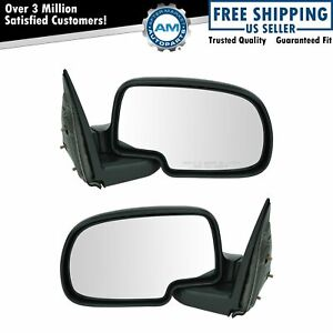 Manual Mirrors Pair Set For Yukon Suburban Silverado Sierra Pickup Truck Xl