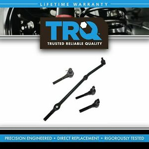 4 Piece Kit Inner Outer Tie Rod End Drag Link Lh Rh Set For Grand Cherokee Zj