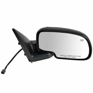 Chrome Heated Power Side View Mirror Passenger Right Rh For Chevy Gmc Truck Suv