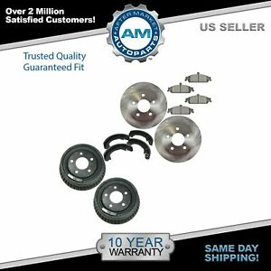 Brake Rotor Ceramic Pad Drum Shoe Front Rear Kit For Chevy Pontiac New