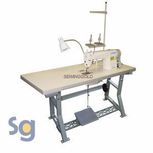 Juki Ddl 8700 Industrial Sewing Machine With Servo Motor Stand And Setup Dvd