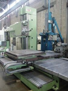Tos Varnsdorf 4 Horizontal Boring Mill W 49 X 57 Rotary Table 1999 Whn 105
