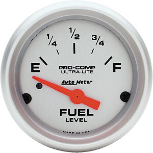 Auto Meter 4314 Ultra Lite Fuel Level Gauge 0 90ohm